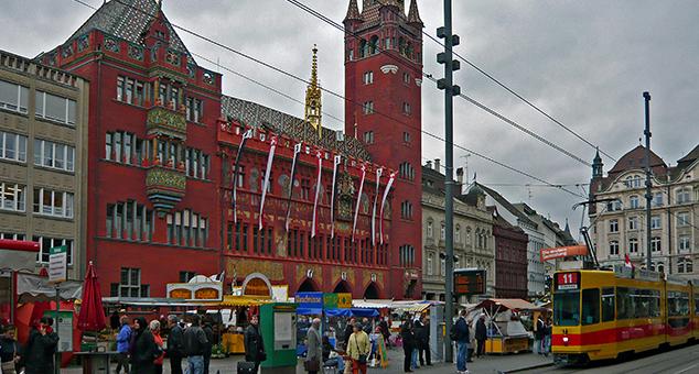 Rathause, marktplatz, basel switzerland, virtuale switzerland biennial, 2014-5